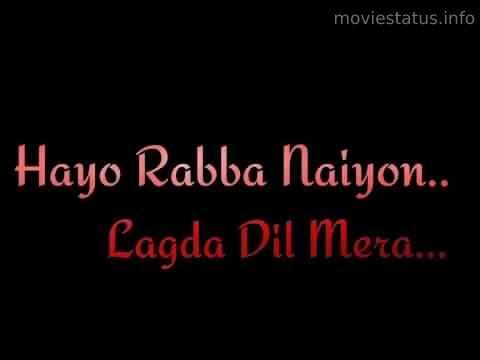 Hayo Rabba Thappad Song Status